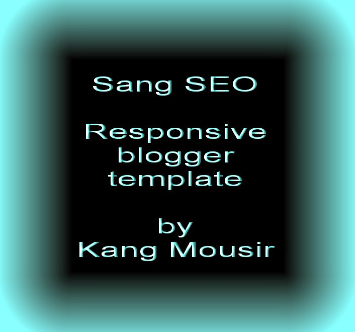 Gambar kata Sang SEO Responsive Blogger Template by Kang Mousir