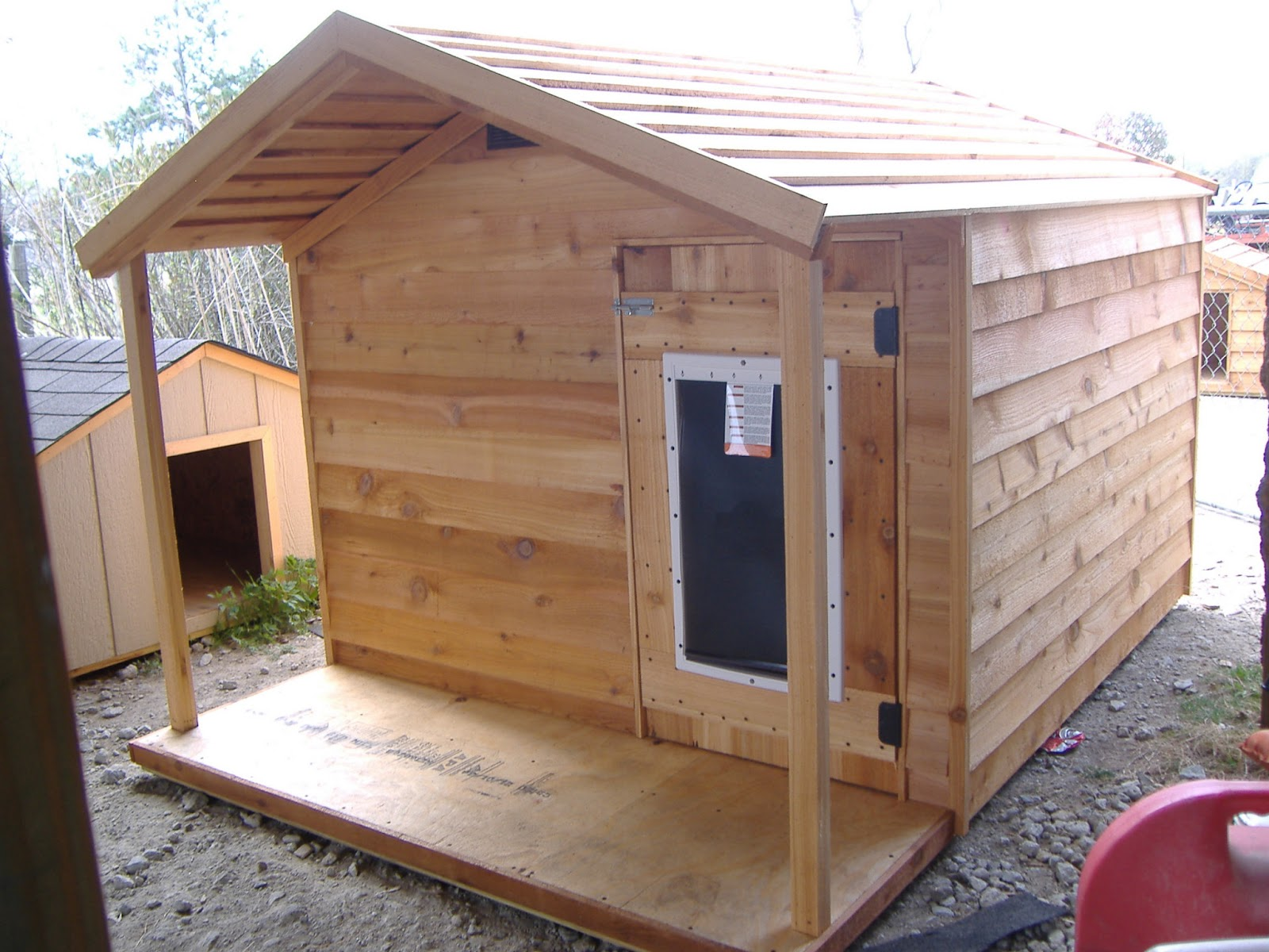 Custom ac heated insulated dog house for 2 large dog house