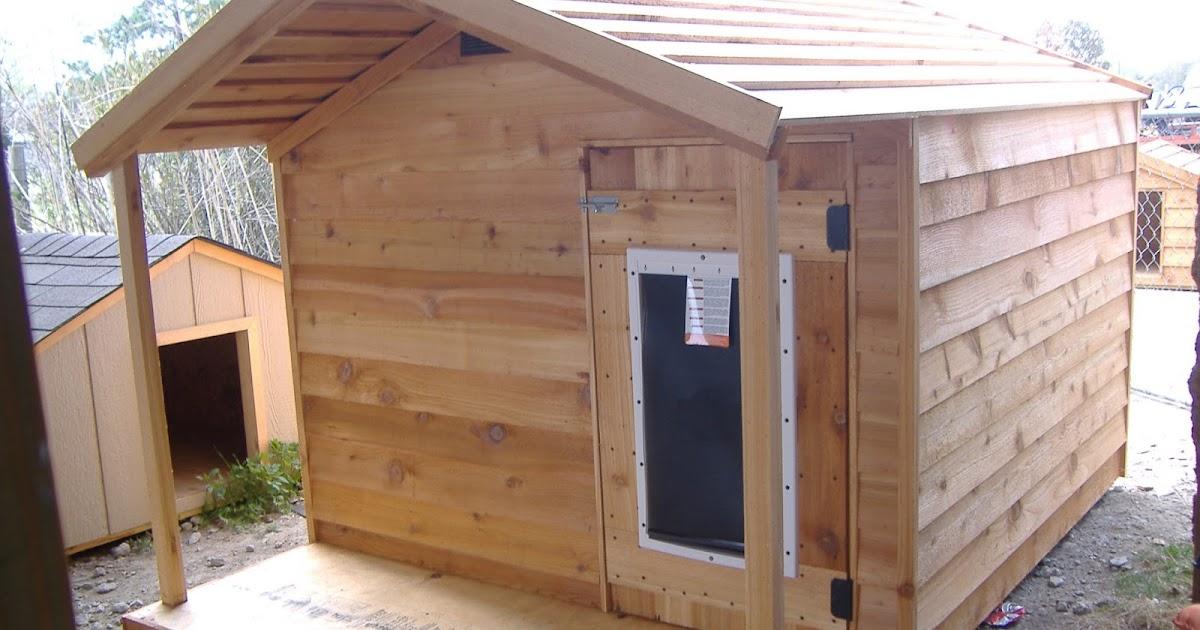 Custom ac heated insulated dog house extra large