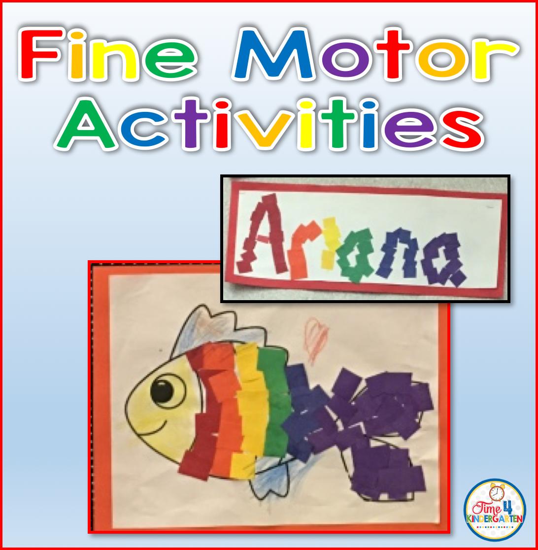 Time 4 kindergarten fine motor activities with rainbow for Fine motor activities for kindergarten