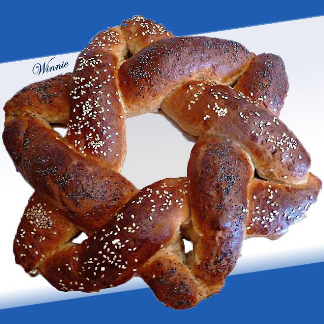 Magen-David shaped Challah and Rolls