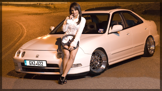 Honda Integra, panny z samochodami, fotki