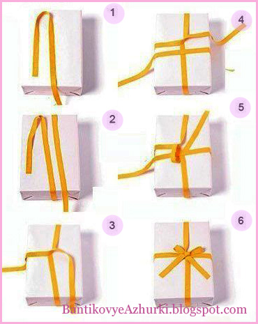 Как из атласной ленты сделать бантик фото