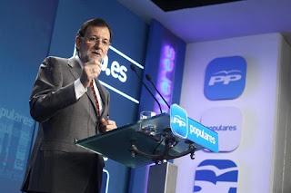 El presidente del Gobierno, Mariano Rajoy, en un mitin