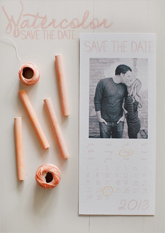 http://www.weddingchicks.com/2012/03/16/2013-watercolor-save-the-dates/