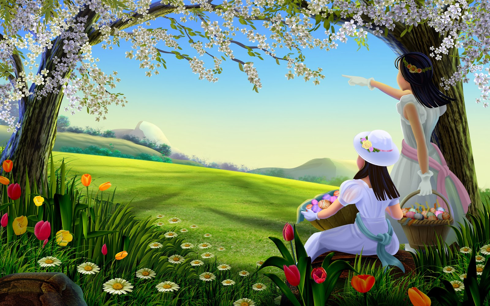 Charming Beautifull Nature And Cartoons Hd Wallpaper
