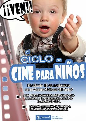 Cartel del I Ciclo de Cine para Niños