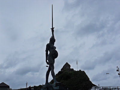 Ilfracombe harbour showing Verity