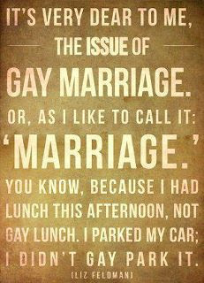 Marriage is Marriage.