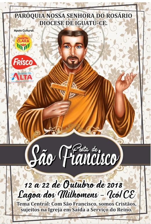 FESTA DE SÃO FRANCISCO DE 12 Á 22 DE OUTUBRO EM LAGOA DE MILHOMENS ZONA RURAL DE ICÓ/CE