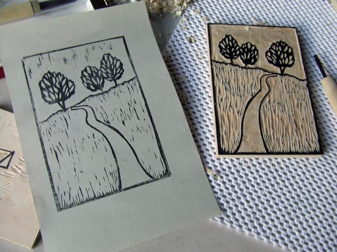 diy woodblock printing 2