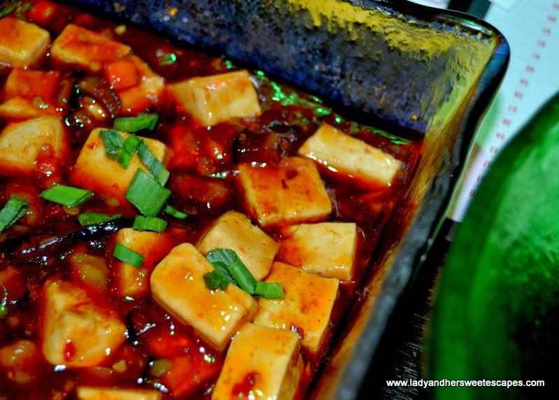 Chop Suey restaurant's Ma Po tofu szechuan