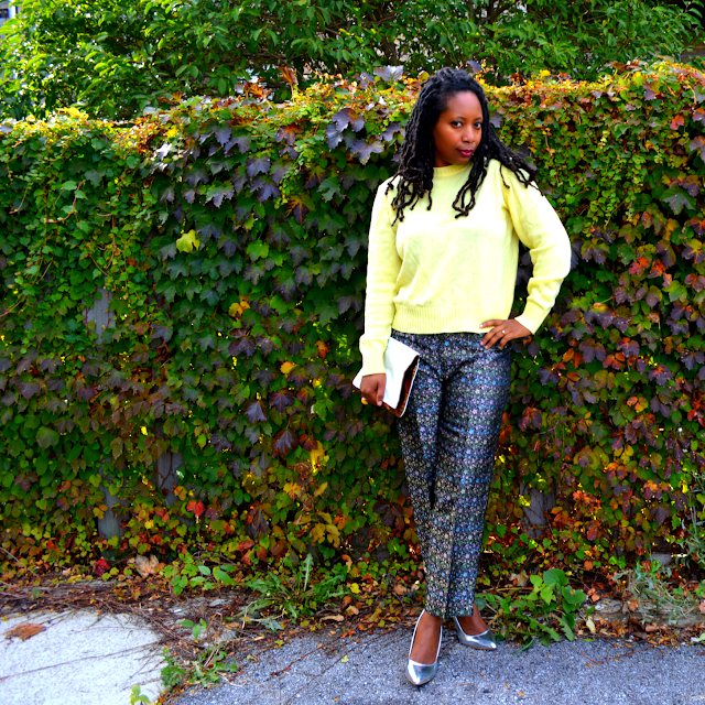 ideas for what to wear with brocade pants