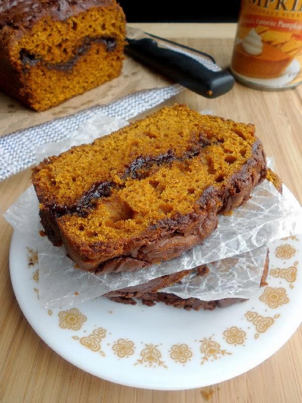 Nutella Swirled Pumpkin Bread - Confessions of a ...