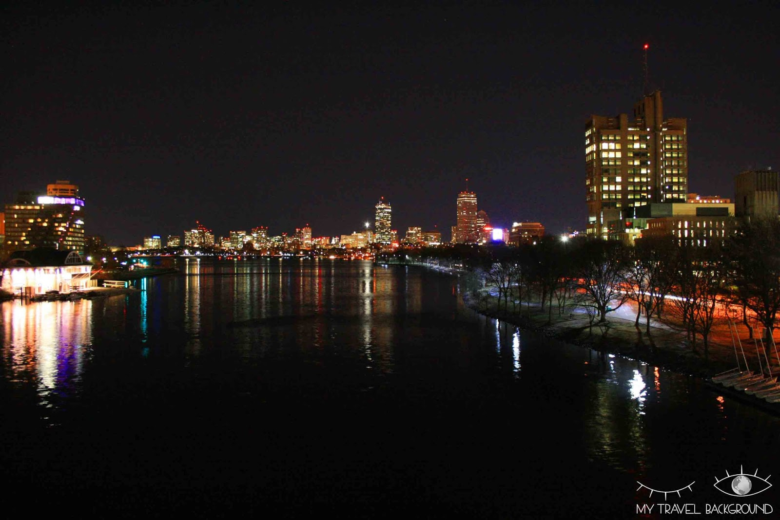 My Travel Background : nuit sur Boston