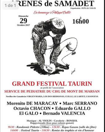 SAMADET (FRANCIA) 29-10-2017. FESTIVAL BENÉFICI PARA NIÑOS CON LEUCEMIA,