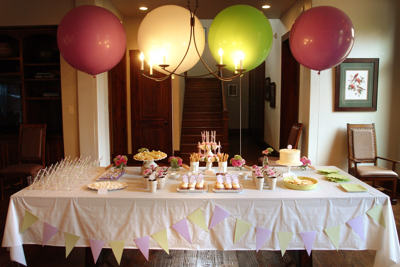 bakes baby shower dessert table