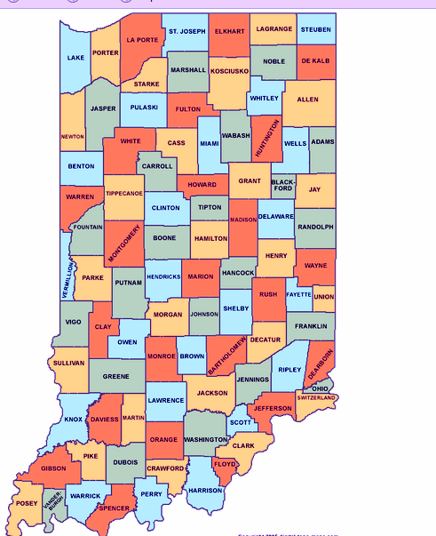 Map Of Indiana Cities Counties Indiana State Map Map Of USA - Map of indiana cities
