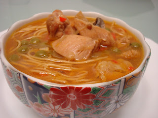 noodles sopa pollo oriental