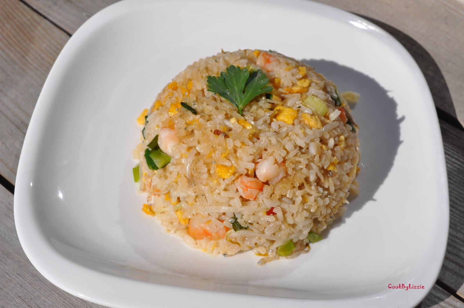 Cook by lizzie salted fish fried rice yum yum for Fish fried rice