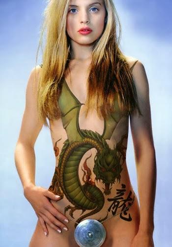 Dragon Body Painting