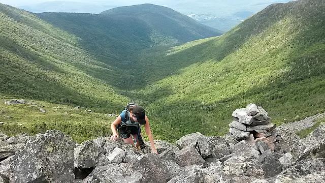 climbing Castle Ravine Trail in Castle Ravine