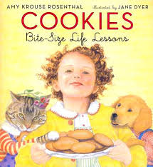 http://www.amazon.com/Cookies-Bite-Size-Amy-Krouse-Rosenthal/dp/006058081X/ref=sr_1_1?ie=UTF8&qid=1386805821&sr=8-1&keywords=cookies+bite+size+life+lessons