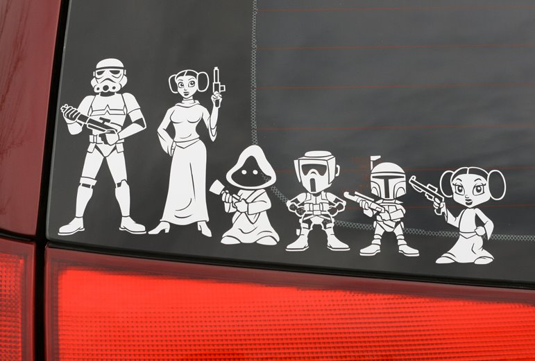 Car Sticker Family