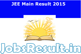 JEE Main Result 2015
