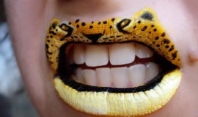 Maquiagem criativa que transforma a boca em arte - 01