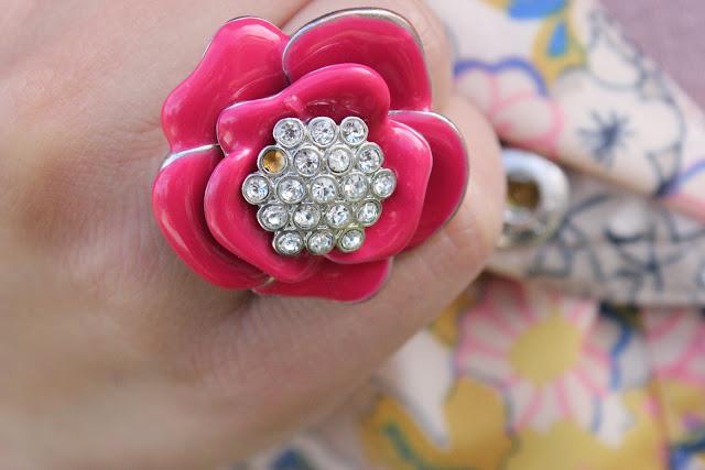 Forever 21 Pink Flower Ring