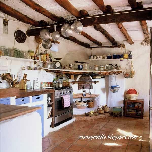 casas de campo cocinas casas y estilo