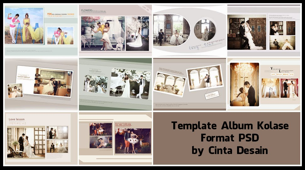Download Image Template Album Kolase Format Psd Volume 5 PC Android
