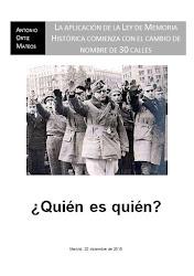 Callejero franquista. TOP 30 ¿Quién es quién?