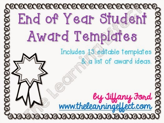 http://www.teacherspayteachers.com/Product/End-of-Year-Student-Award-Templates-1247506