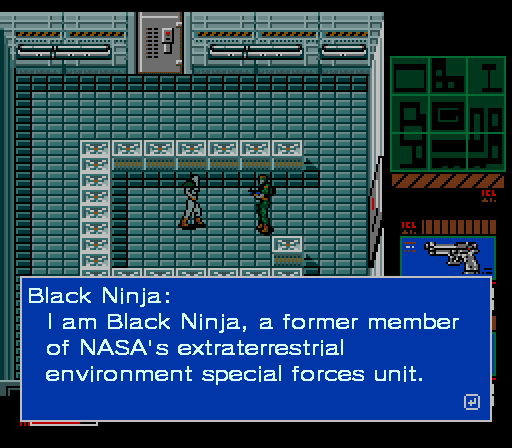 Metal Gear 2 Black Ninja NASA extraterrestrial special forces