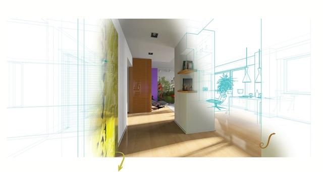 Drawing of new hallway