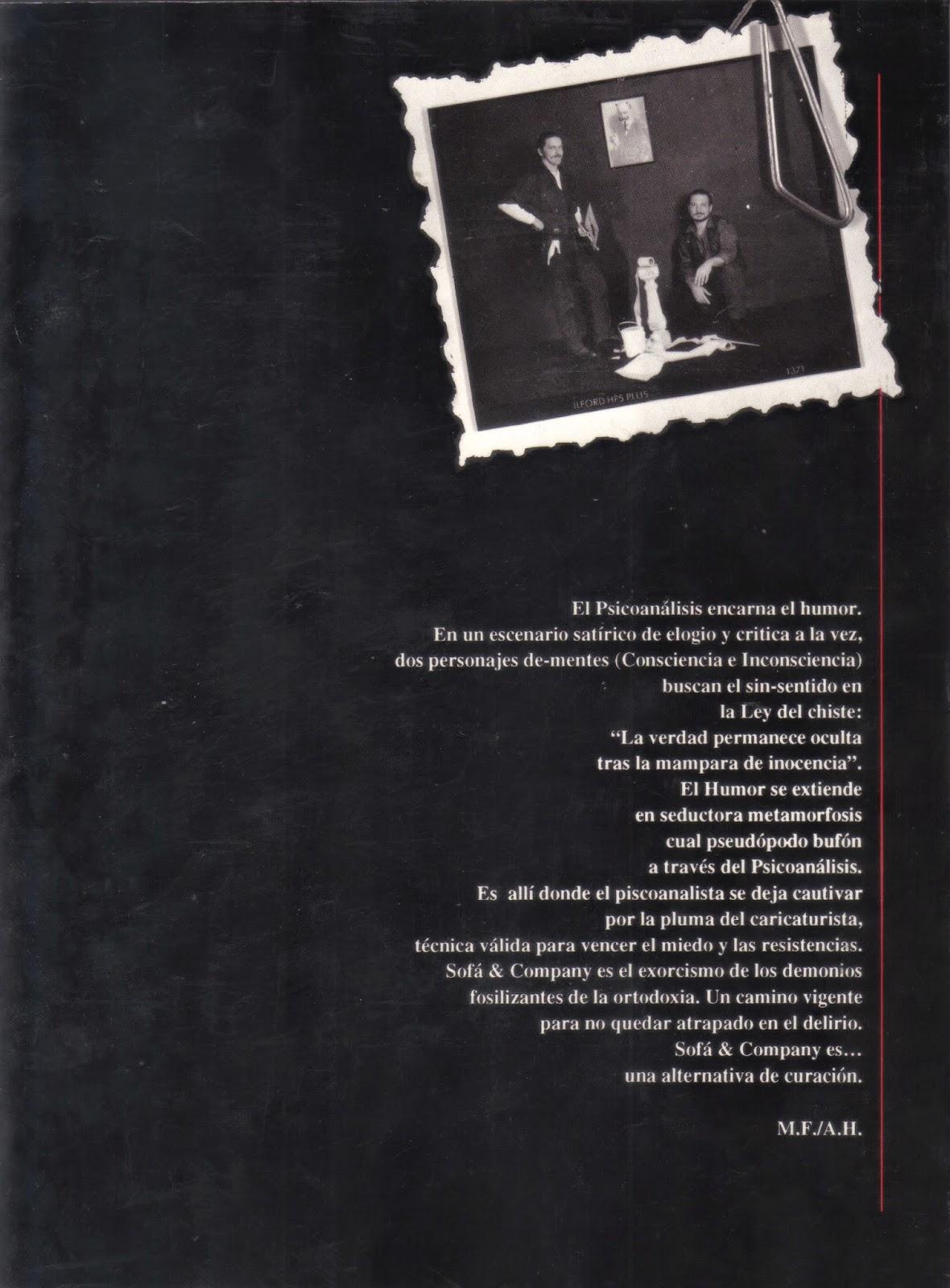 Contraportada Sofá & Company 1 Mario Fattorello y Aldo Hoffinger