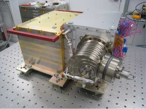 The Neutral Gas and Ion Mass Spectrometer (NGIMS) instrument, shown here at NASA's Goddard Space Flight Center in Greenbelt, Md., before its integration onto NASA's Mars Atmosphere and Volatile EvolutioN (MAVEN) spacecraft. Credit: NASA/GSFC