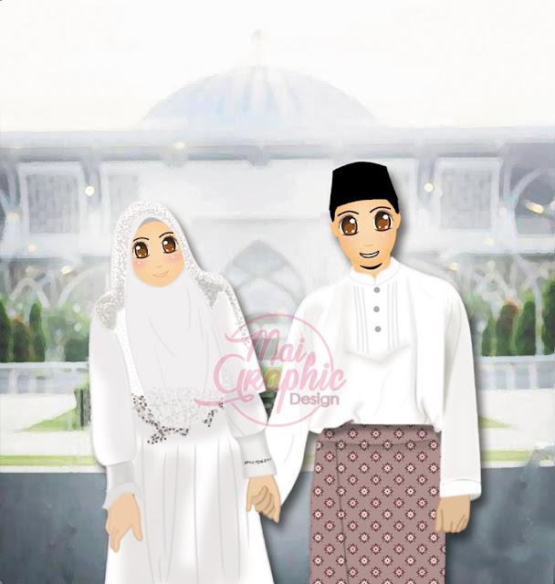 doodle pengantin, doodle kahwin