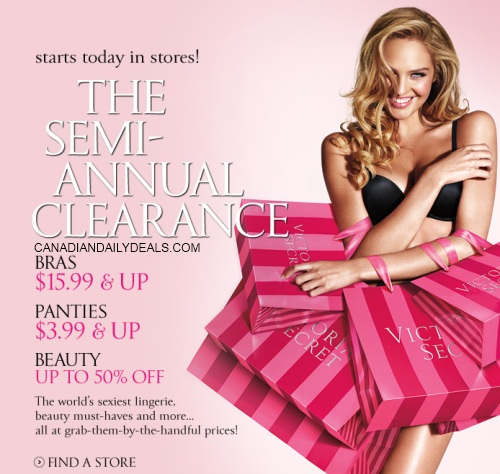 Victoria s secret semi annual clearance sale starts today this