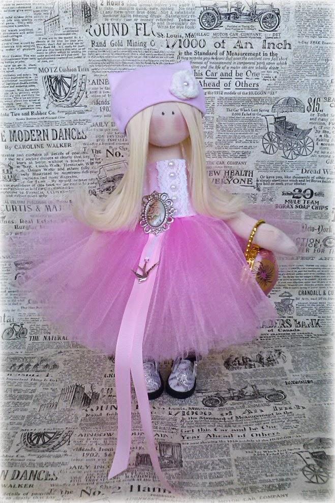 кукла, кукла текстильная, подарок, подарок на день рождения, снежка