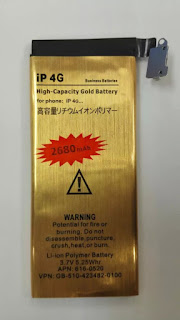 High Capacity 2680mAh Gold battery replacement For Apple iphone 4 4G