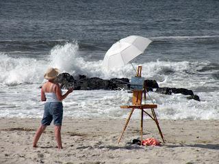 Kathy Schifano, ocean plein air