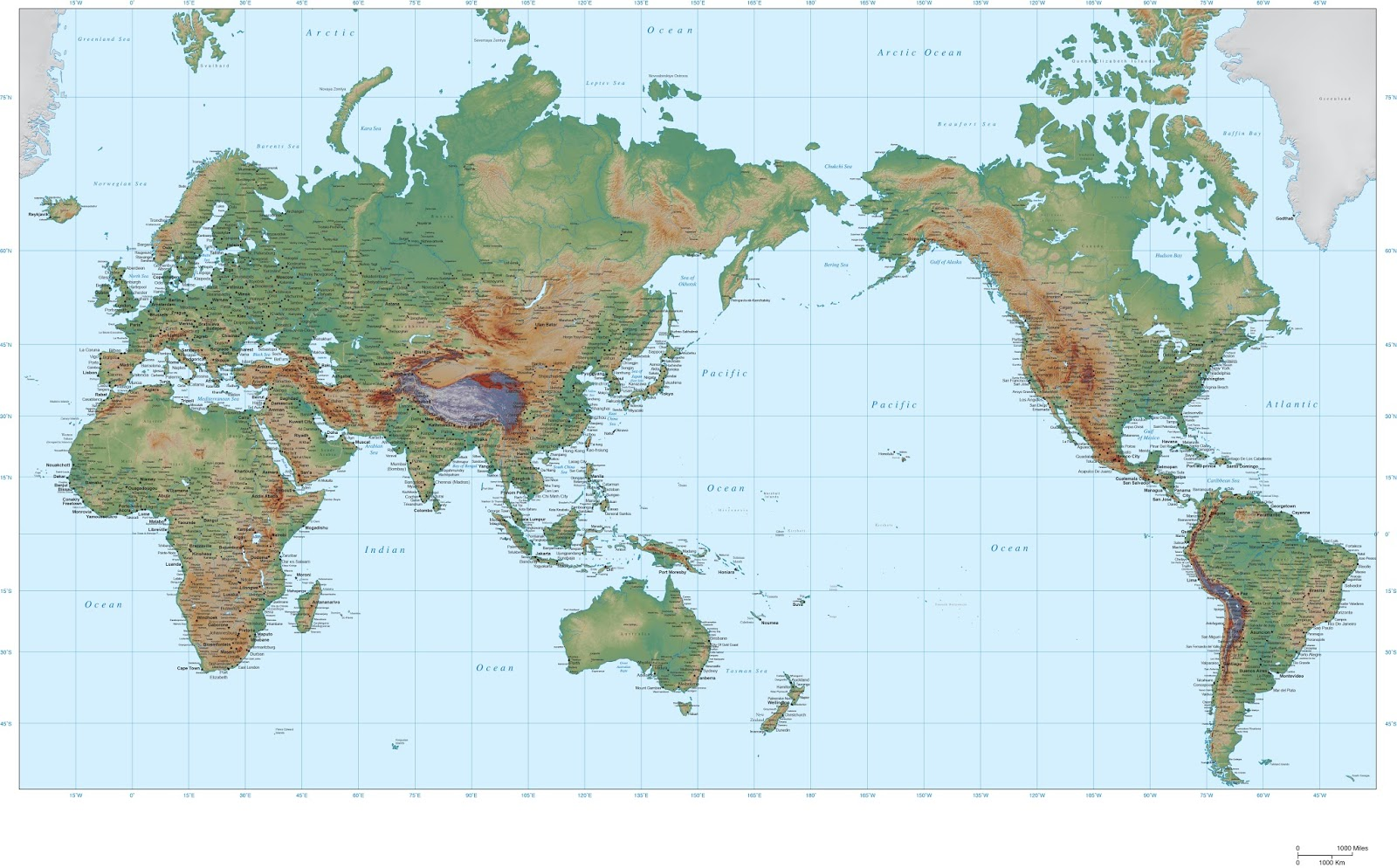 world map political and physical learning geology