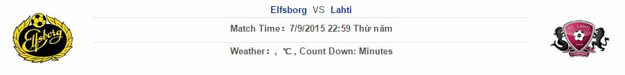 Elfsborg vs Lahti link vào 12bet