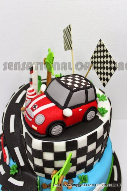 The Sensational Cakes CHECKER MINI COOPER 3D CAR CAKE