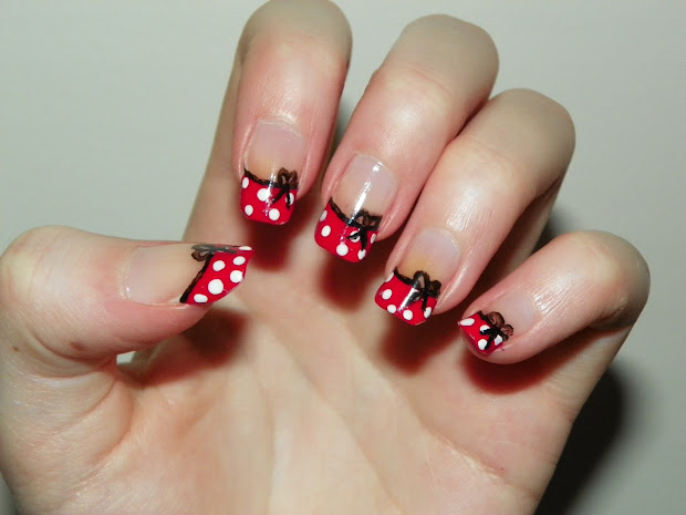 medieval luck minnie mouse nails