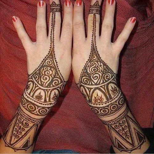 Mehndi design bail simple makedes simple and beautiful bail mehndi designs for eid special altavistaventures Images
