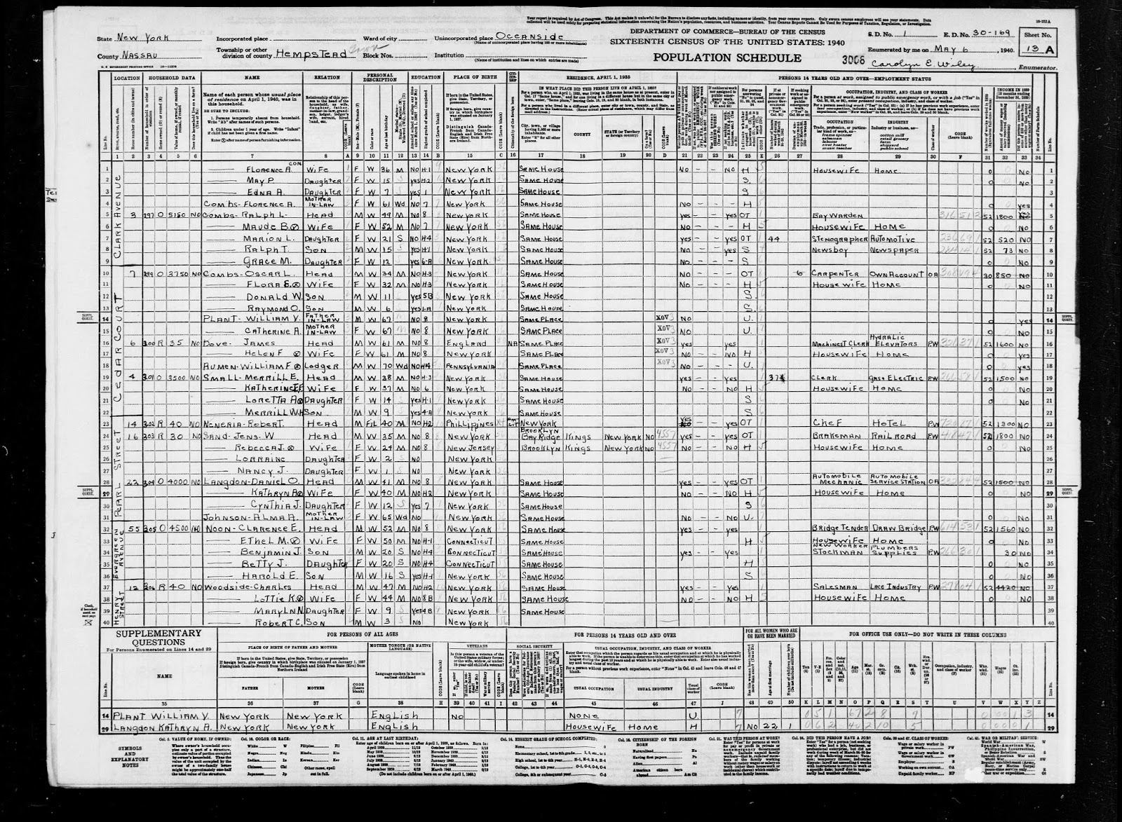 united states census 1940 index and images familysearch https familysearch org pal mm9 1 1 k3bs j1q accessed 21 mar 2014 william f aumen in